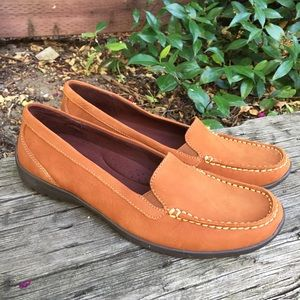 Naturalizer Leather Suede Flat Loafers Jonella 8W